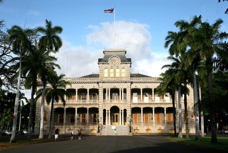 View of the Iolani Palace in Honolulu