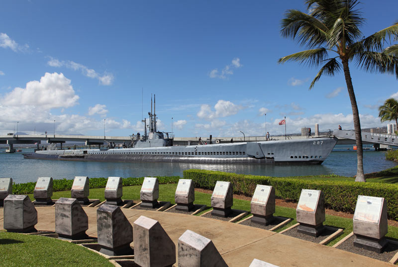 View Bowfin Submarine from the Pearl-Harbor Visitors Center