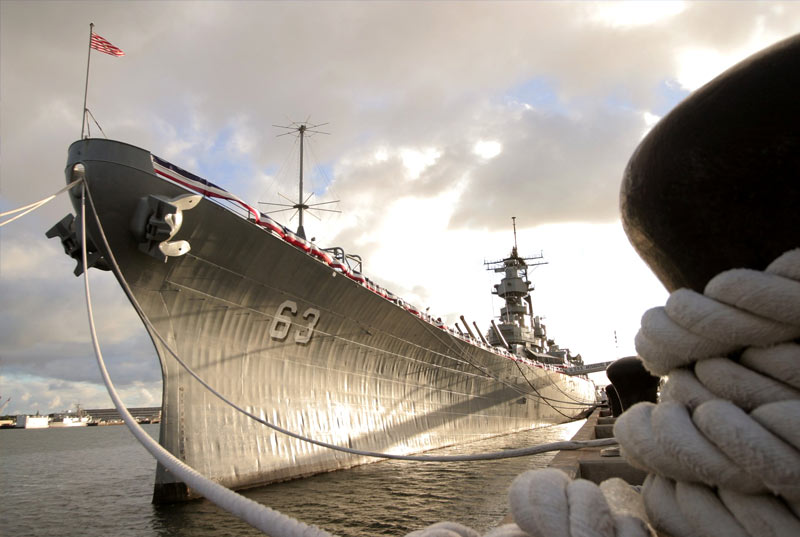 Quarter View of the Mighty Mo Battleship