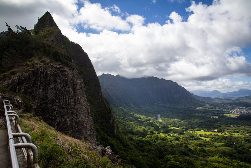 View the historical Pali Lookout