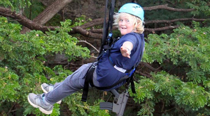 Zipline and have the time of your life