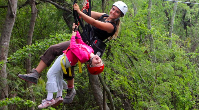 Tandem Ziplining for the Youngsters